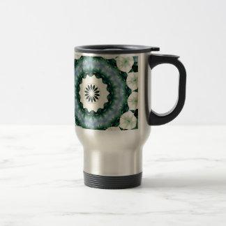 Cerulean Blue and Sacramento Green Mandala Travel Mug