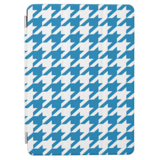 Cerulean Blue Moods Houndstooth iPad Air Cover