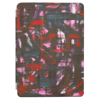 Cerulean Sunset-Hand Painted Abstract Brushstrokes iPad Air Cover