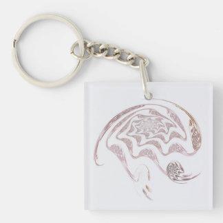 Cerveau artistique porte-clé carré en acrylique une face