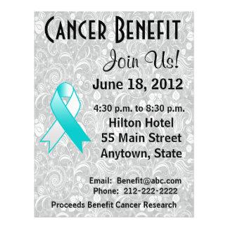 Cervical Cancer Awareness Benefit  Floral Flyer