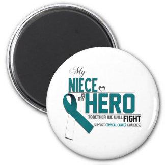 Cervical Cancer Awareness: niece 2 Inch Round Magnet