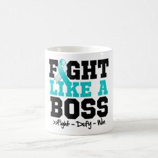 Cervical Cancer Fight Like a Boss Coffee Mug