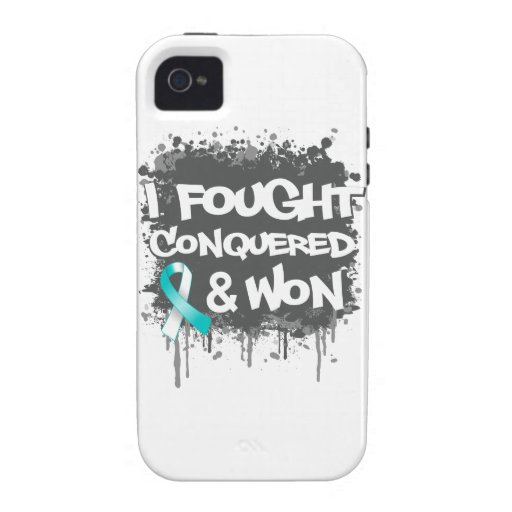 Cervical Cancer I Fought Conquered Won iPhone 4/4S Case