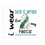 Cervical Cancer I Wear Teal & White For My Niece 4