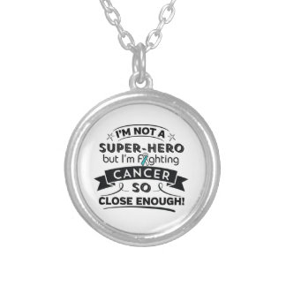 Cervical Cancer Not a Super-Hero Round Pendant Necklace