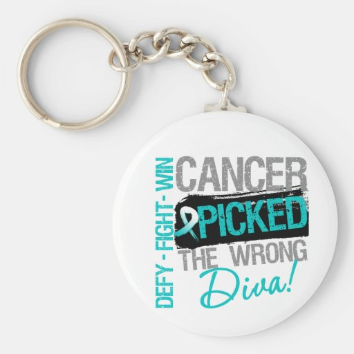 Cervical Cancer Picked The Wrong Diva Keychain