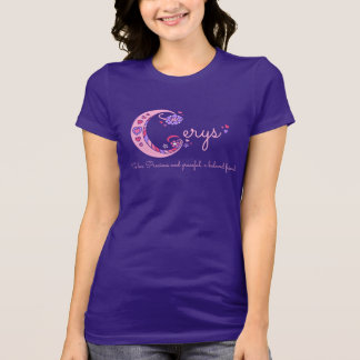 Cerys girls C name meaning monogram shirt