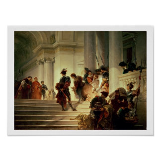 Cesare Borgia leaving the Vatican Poster