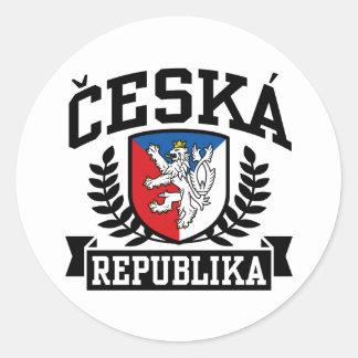 Ceska Republika Classic Round Sticker