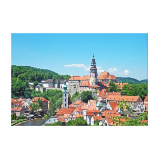 Cesky Krumlov and the castle. Panorama. Canvas Print