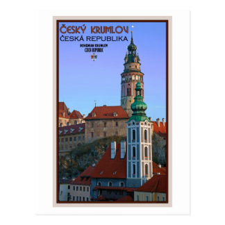 Cesky Krumlov - Two Towers Postcard