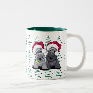 Cesky Terrier Christmas Two-Tone Coffee Mug
