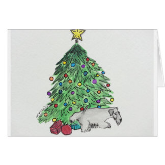 "Cesky Terrier ""My Tree"" Card"
