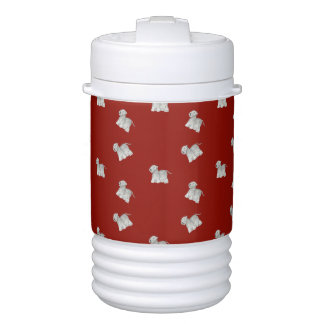 Cesky Terrier on red Cooler
