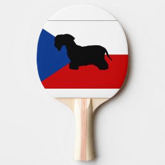 cesky terrier silo czech-republic flag Ping-Pong paddle