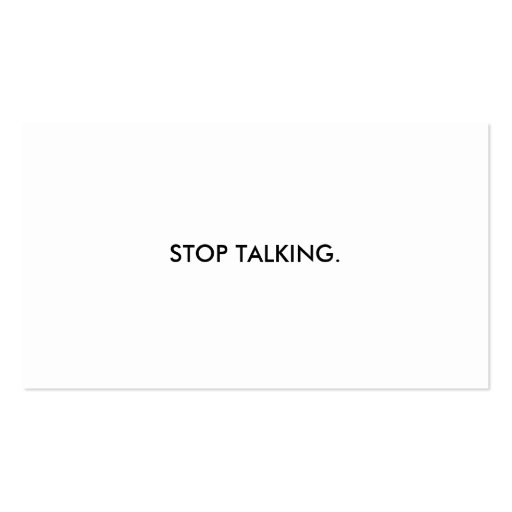 Cessez de parler le carte de visite