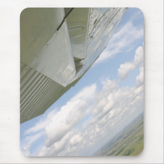 Cessna Airplane wing in sky mousepad