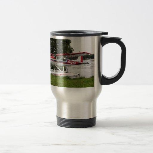 Cessna float plane, Lake Hood, Alaska Coffee Mug