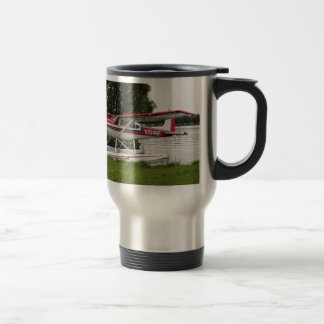 Cessna float plane, Lake Hood, Alaska Travel Mug