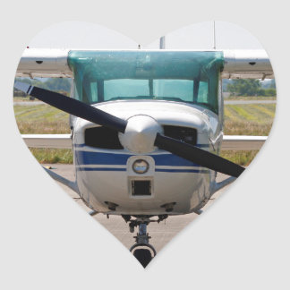 Cessna light aircraft heart sticker