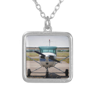 Cessna light aircraft silver plated necklace