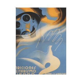 C'est 1937) affiches de _Propaganda de fascisme ( Toile Tendue Sur Châssis