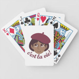 Cest La Vie Bicycle Playing Cards