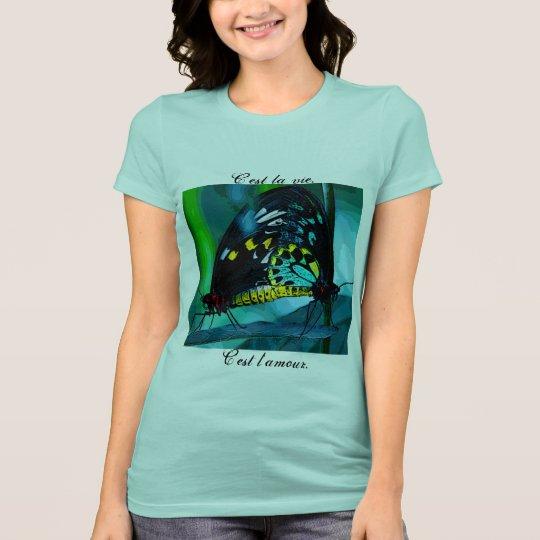 C'est la vie. C'est l'amour. French T-shirt three