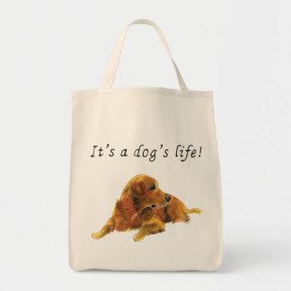 C'est la vie d'un chien, sac fourre-tout drôle à