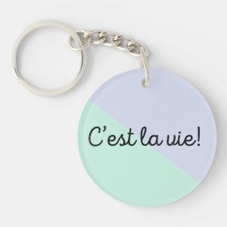 C'est La Vie Key Chain