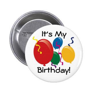 C'est mon anniversaire !  Bouton Macaron Rond 5 Cm