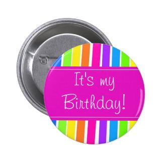 C'est mon anniversaire ! pin's avec agrafe