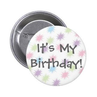 C'est mon anniversaire ! badge avec épingle