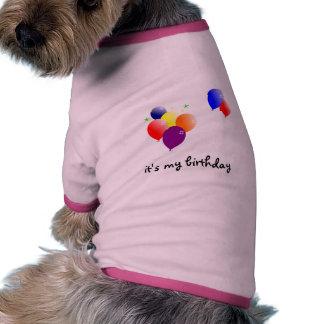 c'est mon anniversaire tee-shirt pour animal domestique