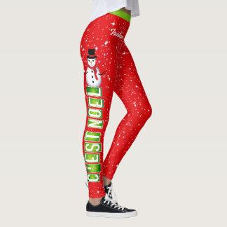 C'EST NOEL / Snowman Christmas (Your Name) Leggings