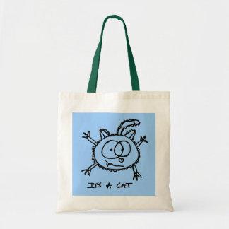 C'est un chat sac en toile