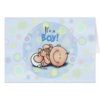 C'est un garçon - félicitations de bébé ! carte