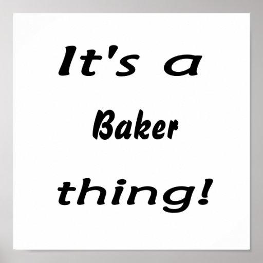 C'est une chose de boulanger ! affiches