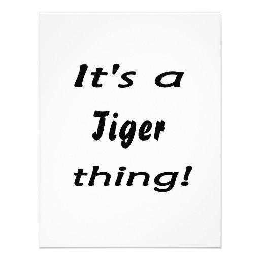 C'est une chose de tigre ! invitation personnalisée