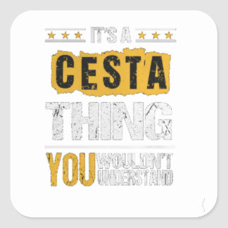 Cesta tshirts square sticker