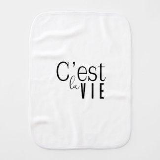cestlavie C'est la Vie Burp Cloth