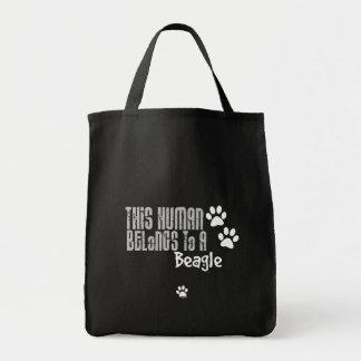 Cet humain appartient à un beagle sac