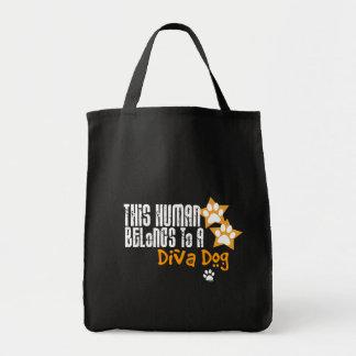 Cet humain appartient à un chien de diva sac de toile
