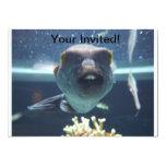 Cet invitation de poissons de Bucktooth