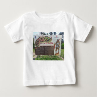 Cetatea Rasnov, Romania. Historic fortress map. Baby T-Shirt