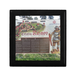 Cetatea Rasnov, Romania. Historic fortress map. Gift Box