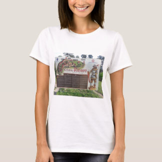 Cetatea Rasnov, Romania. Historic fortress map. T-Shirt