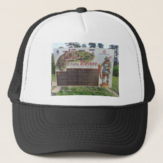 Cetatea Rasnov, Romania. Historic fortress map. Trucker Hat