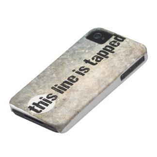 cette ligne est le 4ème amendement tapé coques iPhone 4 Case-Mate